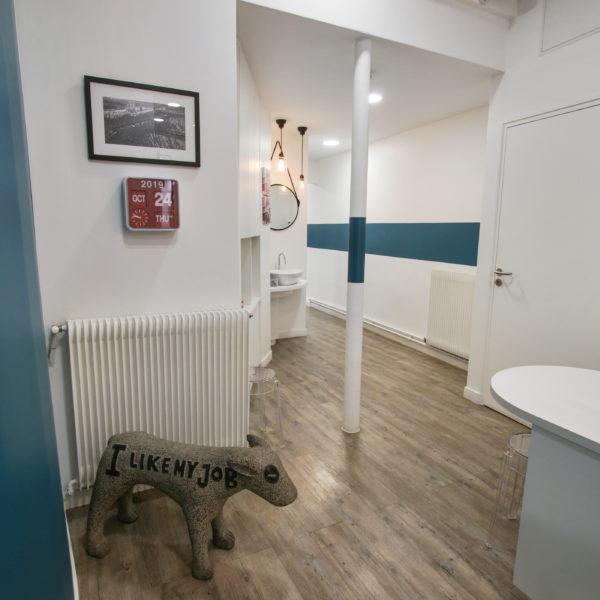 Hall du cabinet orthodontique à Paris 8